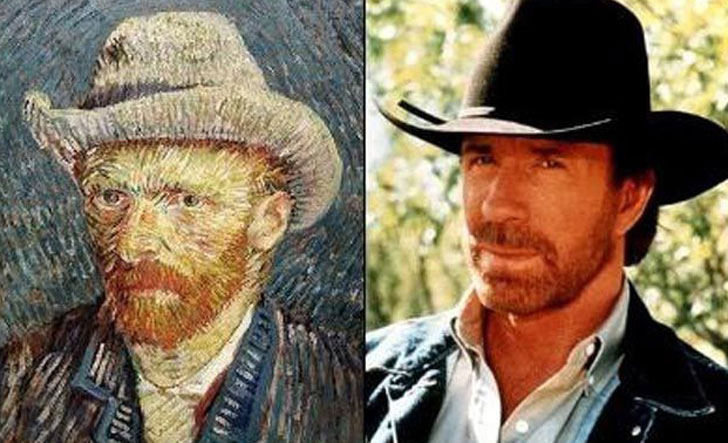 Chuck Norris and Vincent Van Gogh
