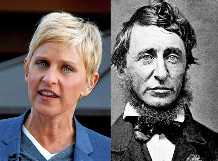 Ellen DeGeneres and Henry David Thoreau