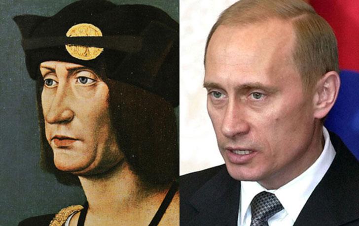 Vladimir Putin and Louis XII
